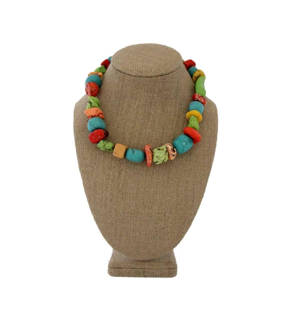 *JU Multi Colored Stone Necklace