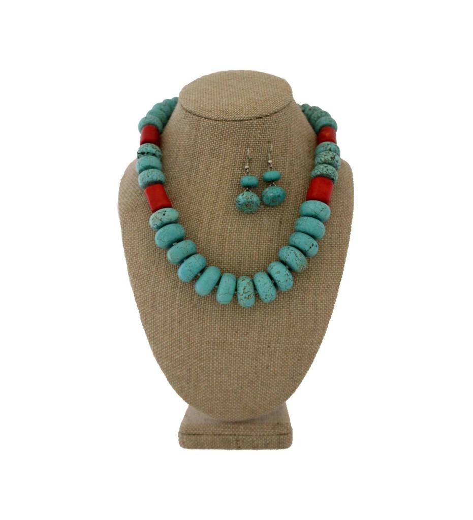 *RS Turquoise & Coral Set