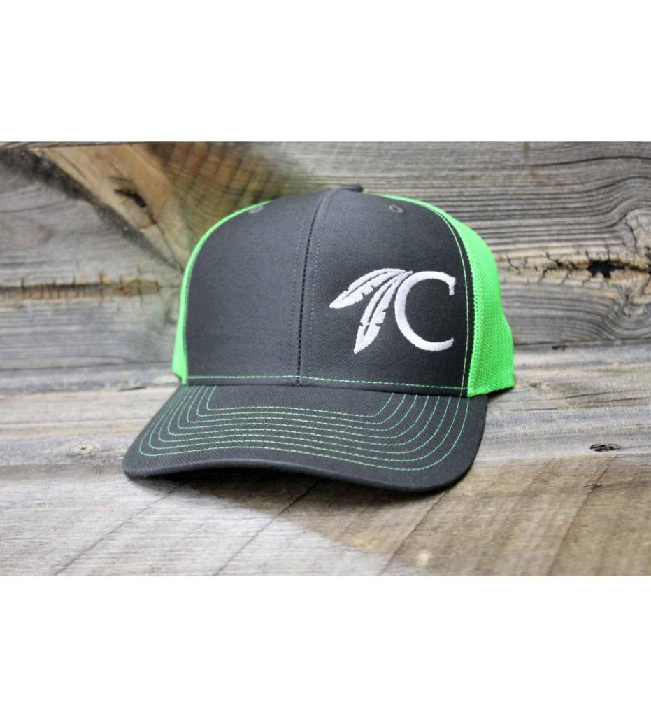 "Choctaw ""C"" Cap Charcoal & Lime"