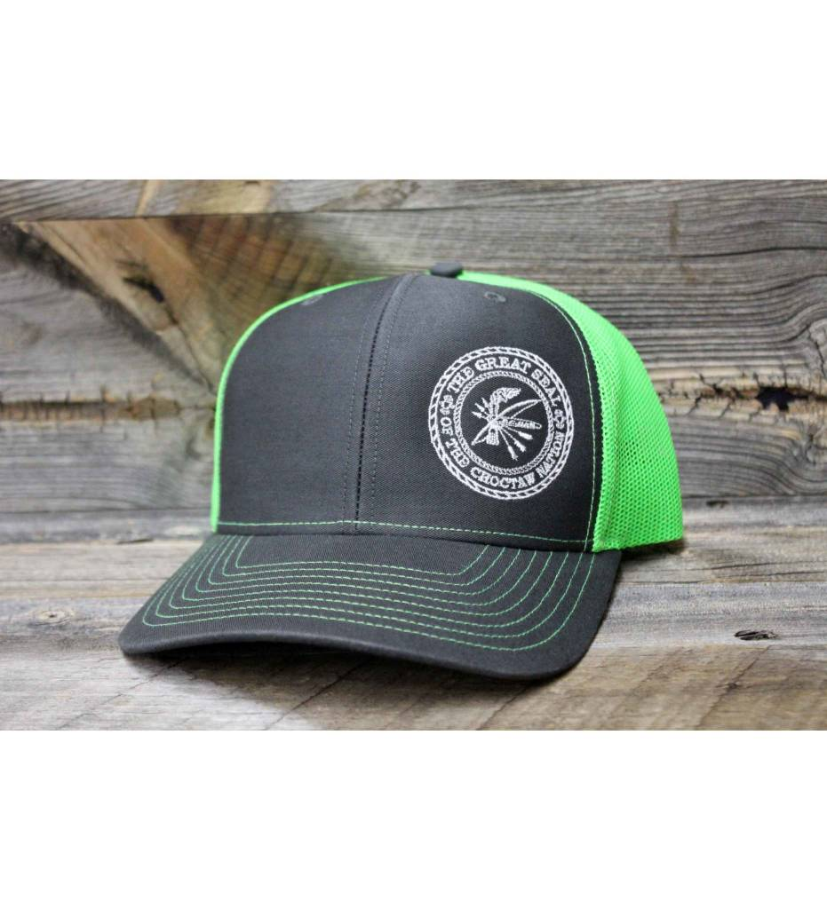 """Choctaw """"SEAL"""" Cap Charcoal & Lime"""
