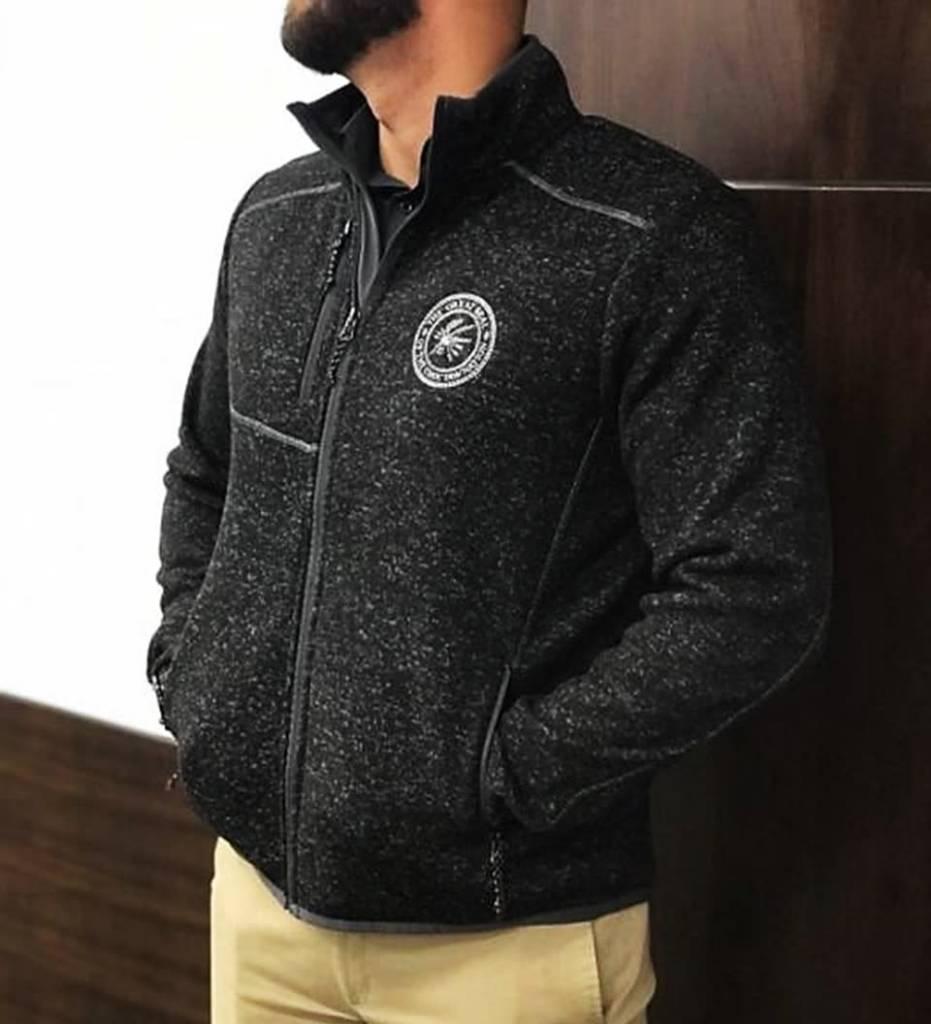Black Heather Knit Jacket
