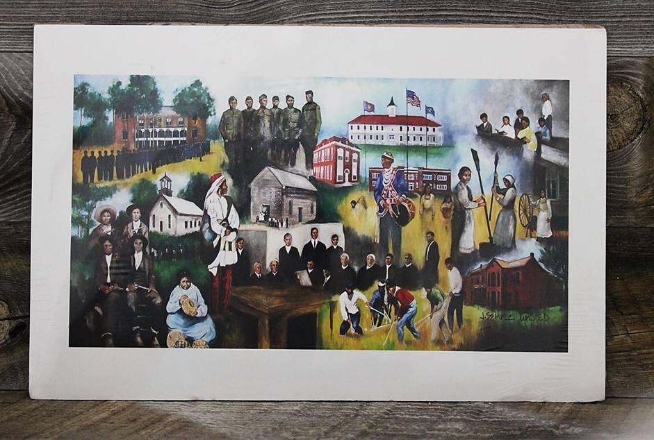 "*JU ""History of the Choctaw Nation of Oklahoma"" Print"