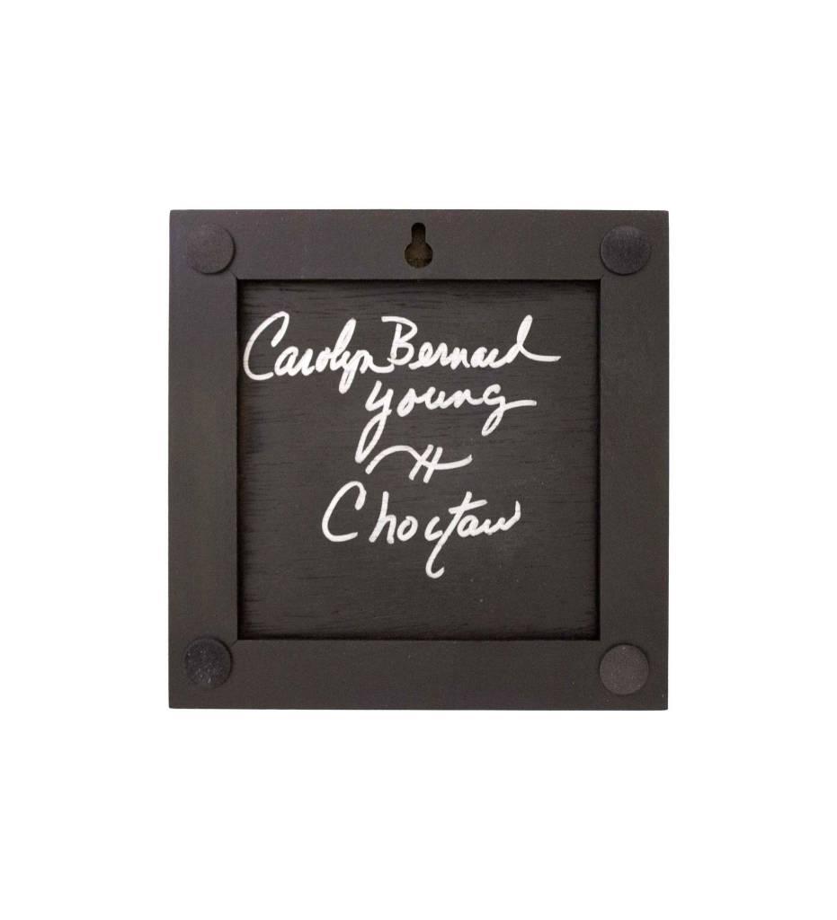 "*CBY 4"" Framed Tile Inlaid Color Cardinal"