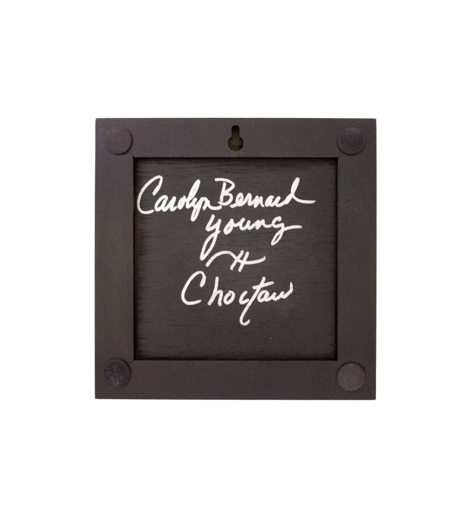 "*CBY 4""Framed Tile B/W Joy"