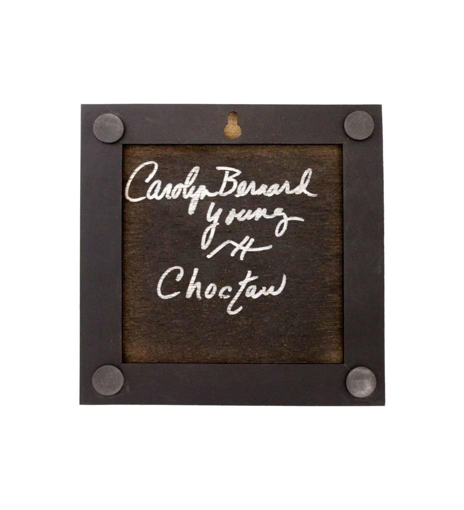 """*CBY 6"""" Framed Tile Inlaid Color Deer"""