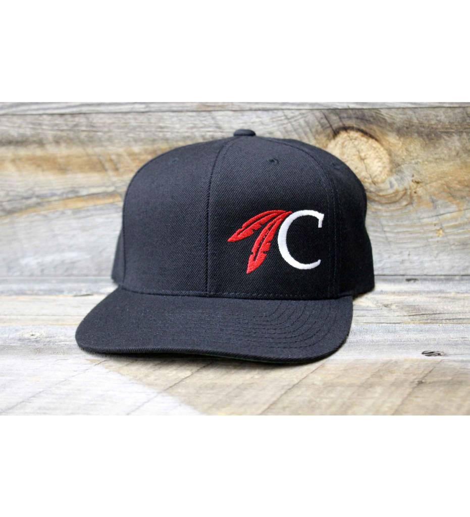 Sport-Tek Flat Bill Snap Back w/Choctaw C
