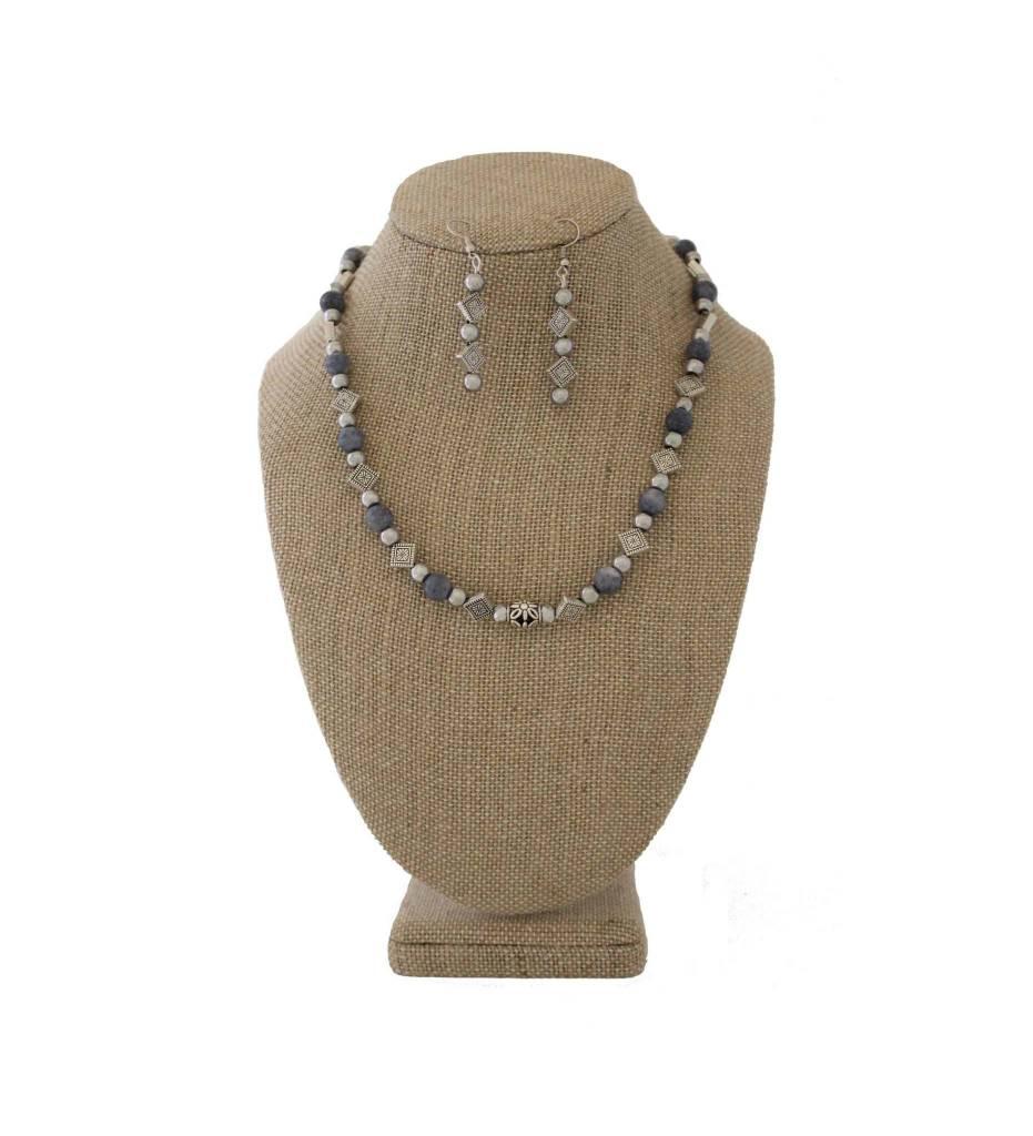 *JM 1902012 Gray Gemstone Set