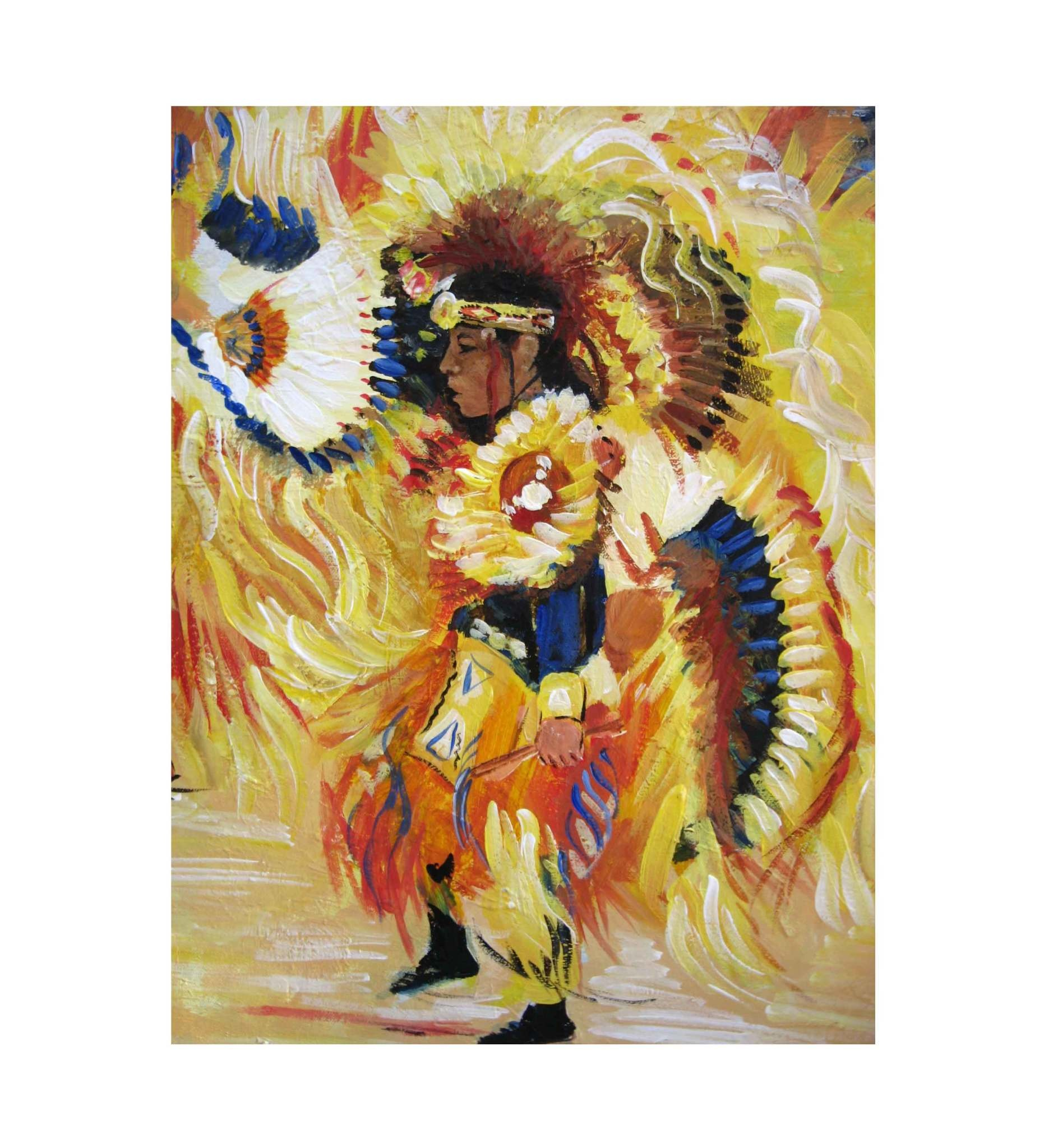 "*JU ""YELLOW FIRE DANCER"" 11 X 17 PRINT"