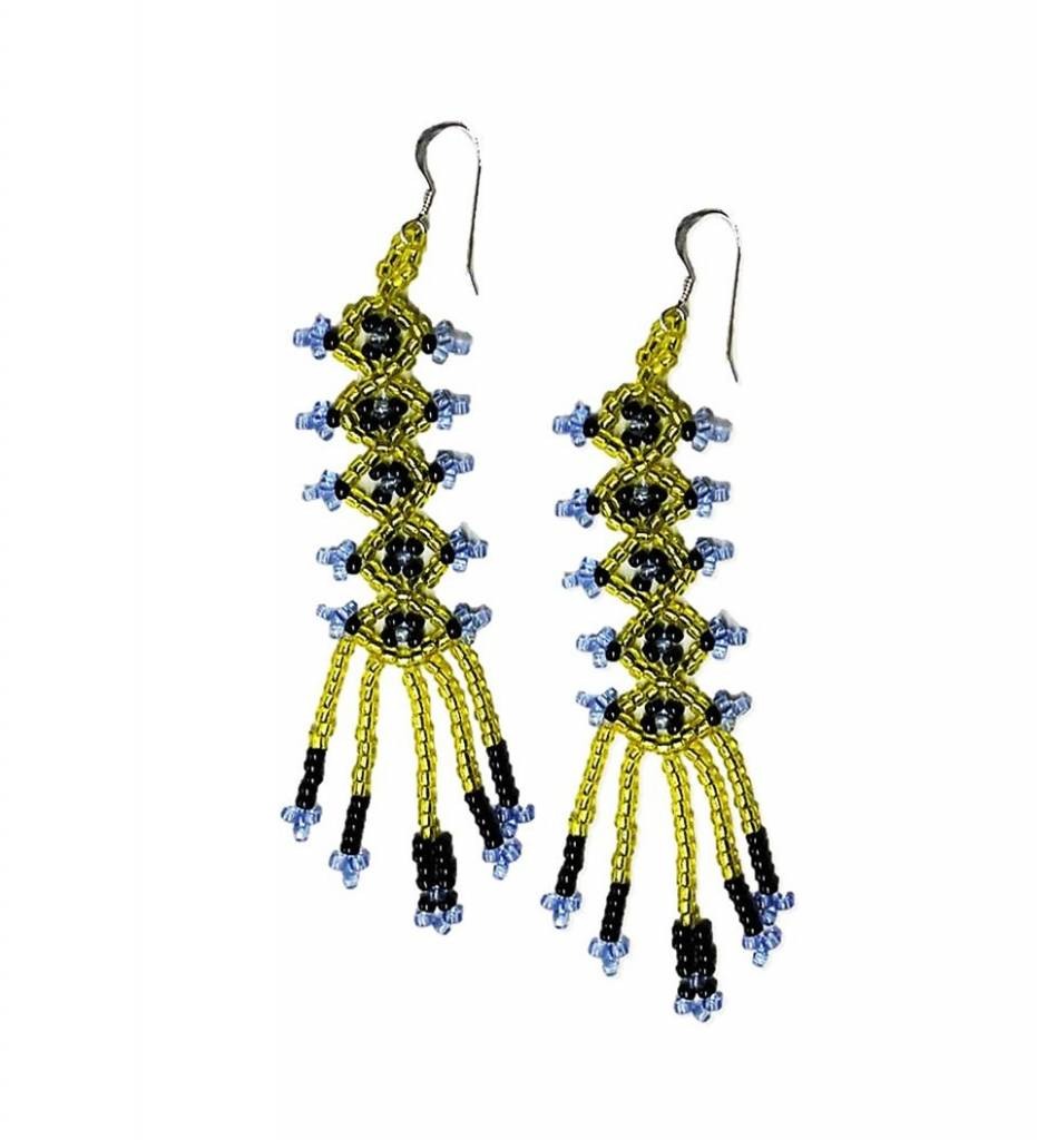 *CC Chickasaw Design Beaded Earrings