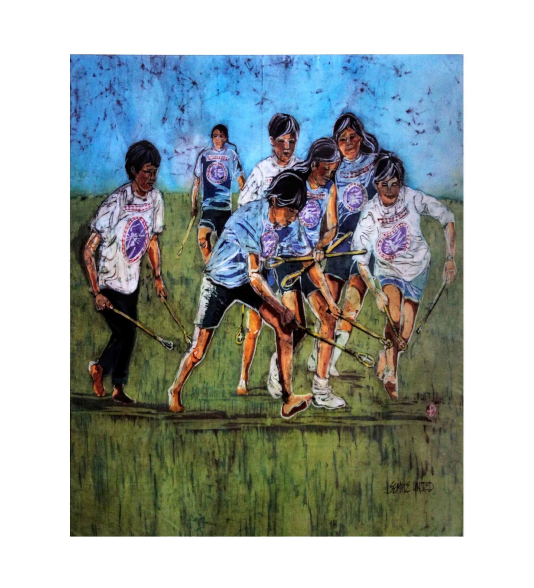 "*JU ""CHOCTAW YOUTH STICKBALL"" 11 X 17 PRINT"