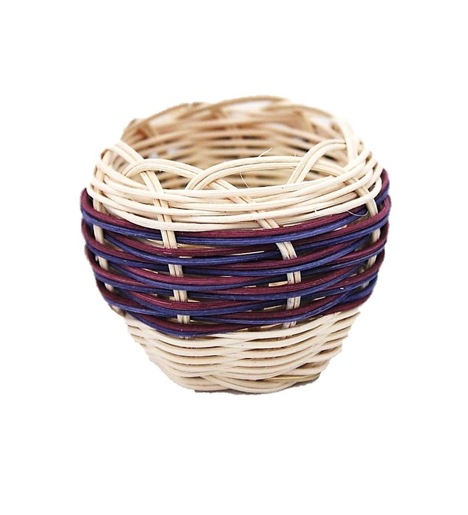 *LA Medium Hand woven Double Walled Basket