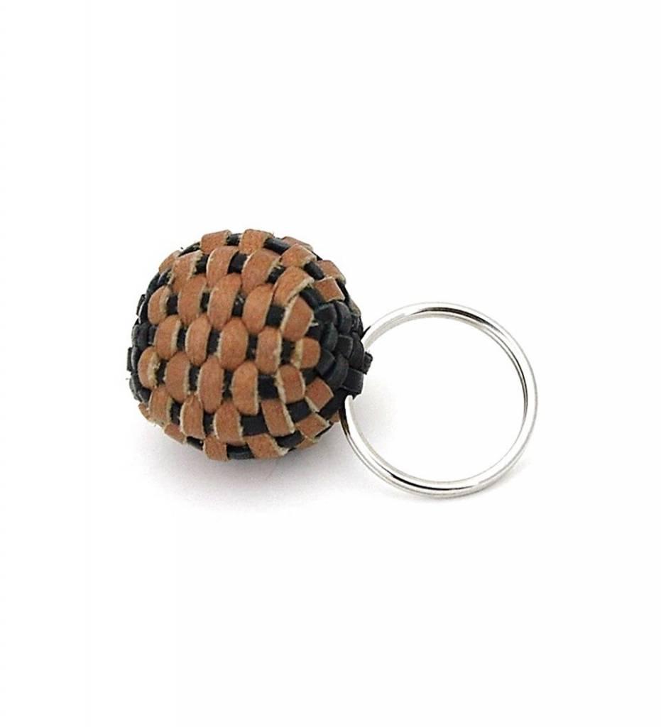 NHB Stickball Keychain TAN & BLACK Small