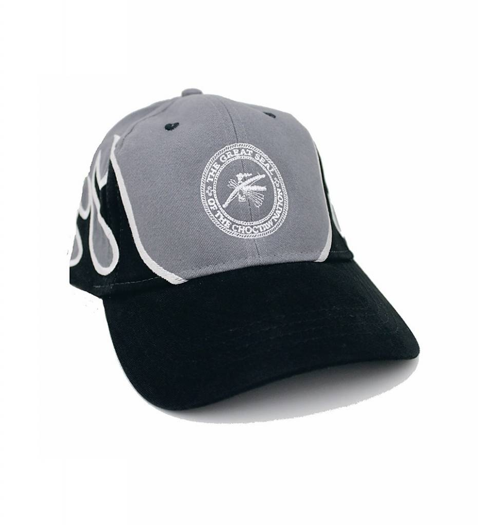 Black Flame & White Embroidered CNO Seal CAP