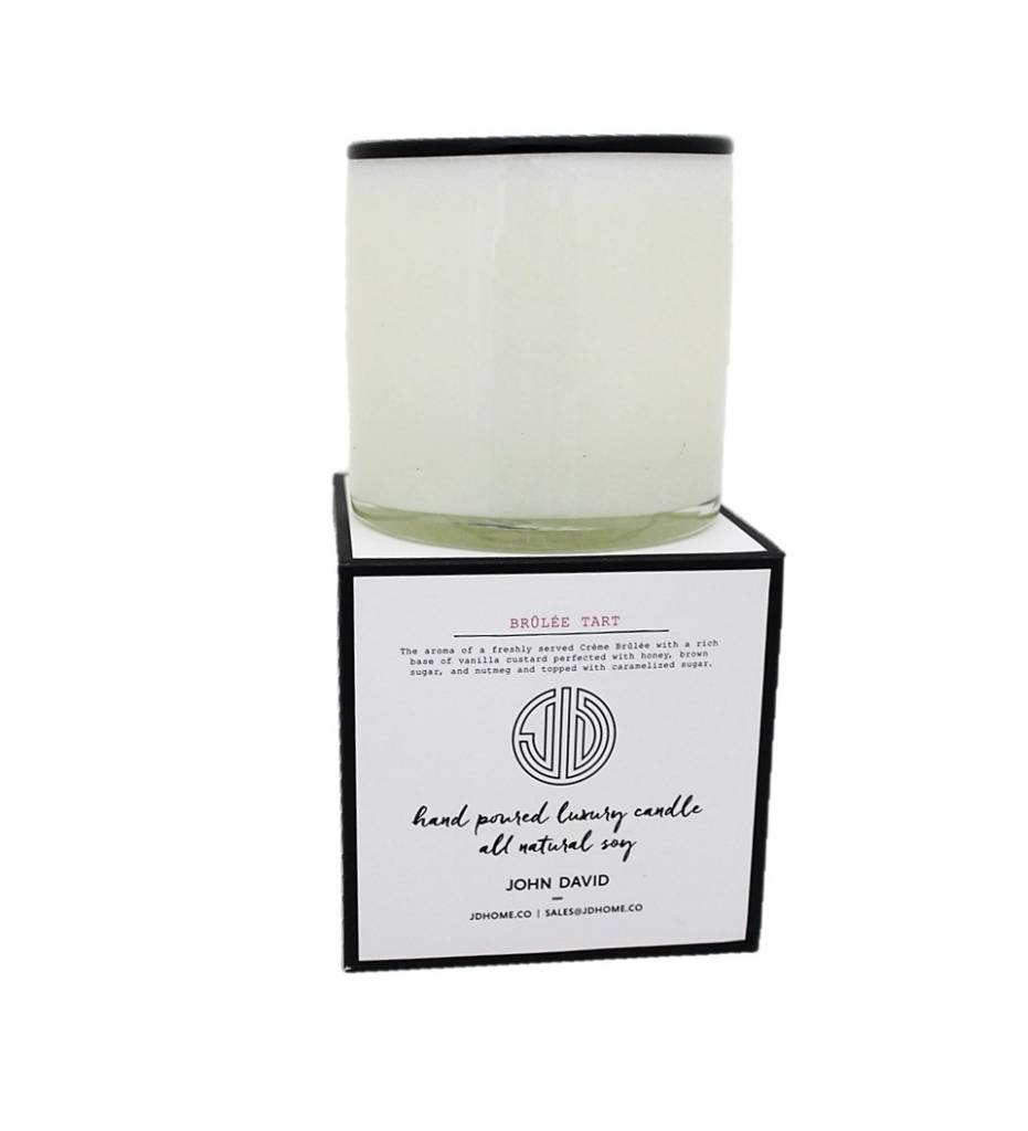 JD Candles Gourmet Brulee Tart Candle