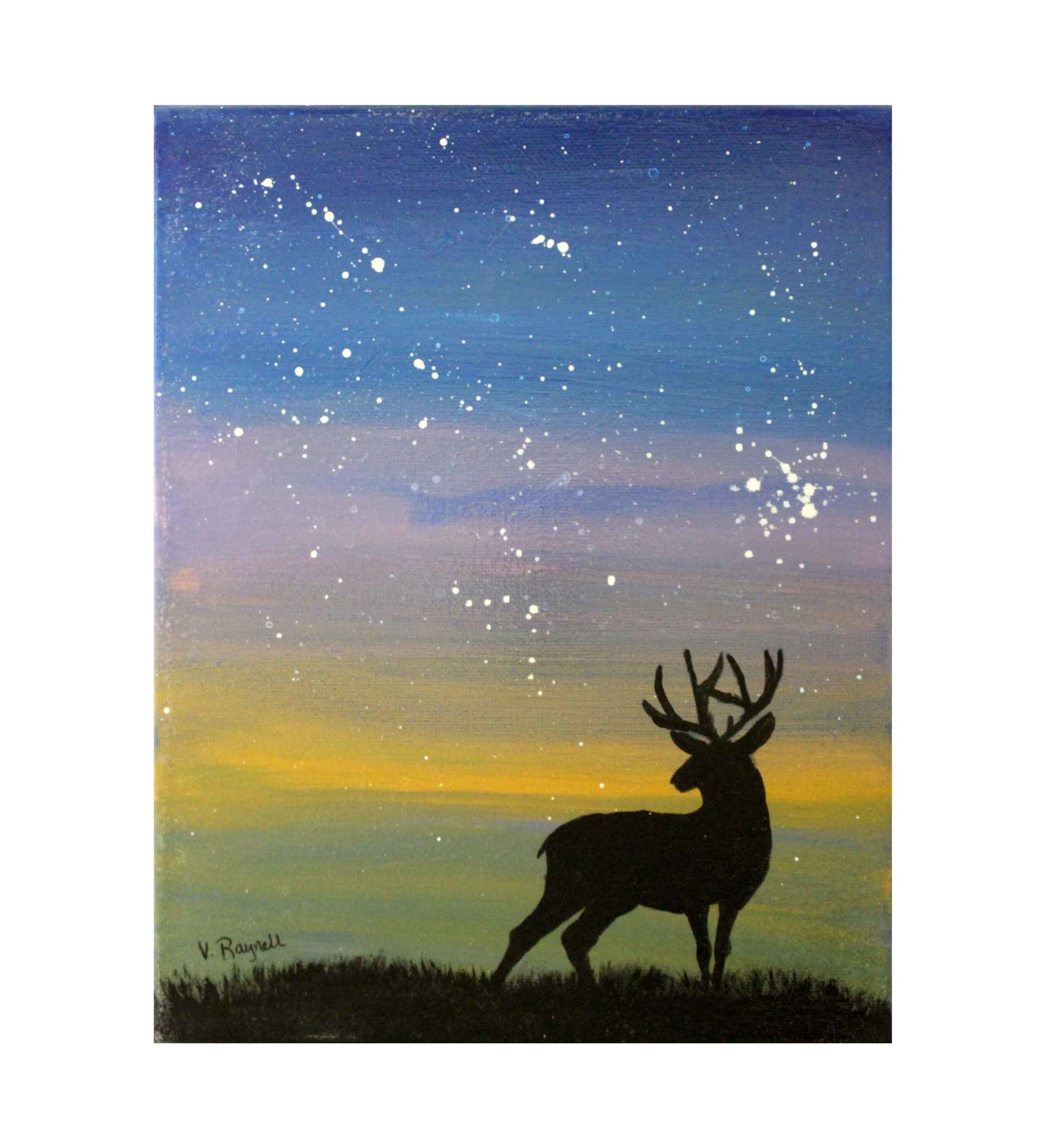 "*VB 5 X 7 Painted Canvas ""Deer"""