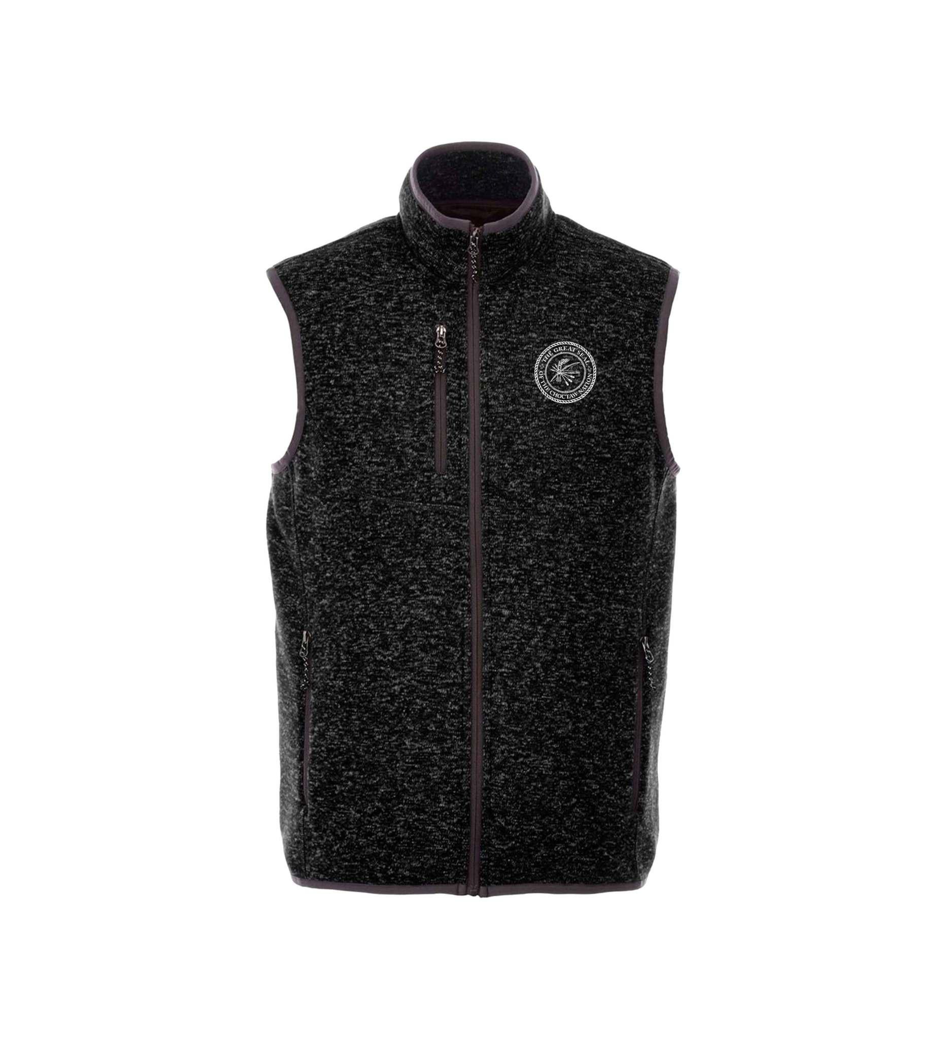 Black Heather Knit Vest w/CNO Seal