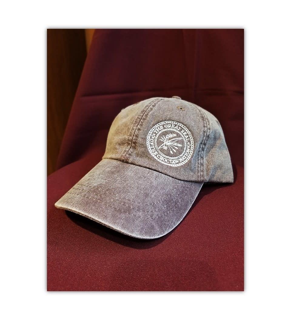Full Back Logo Cap w/Seal Brown