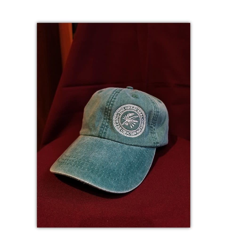 Full Back Logo Cap w/Seal Green