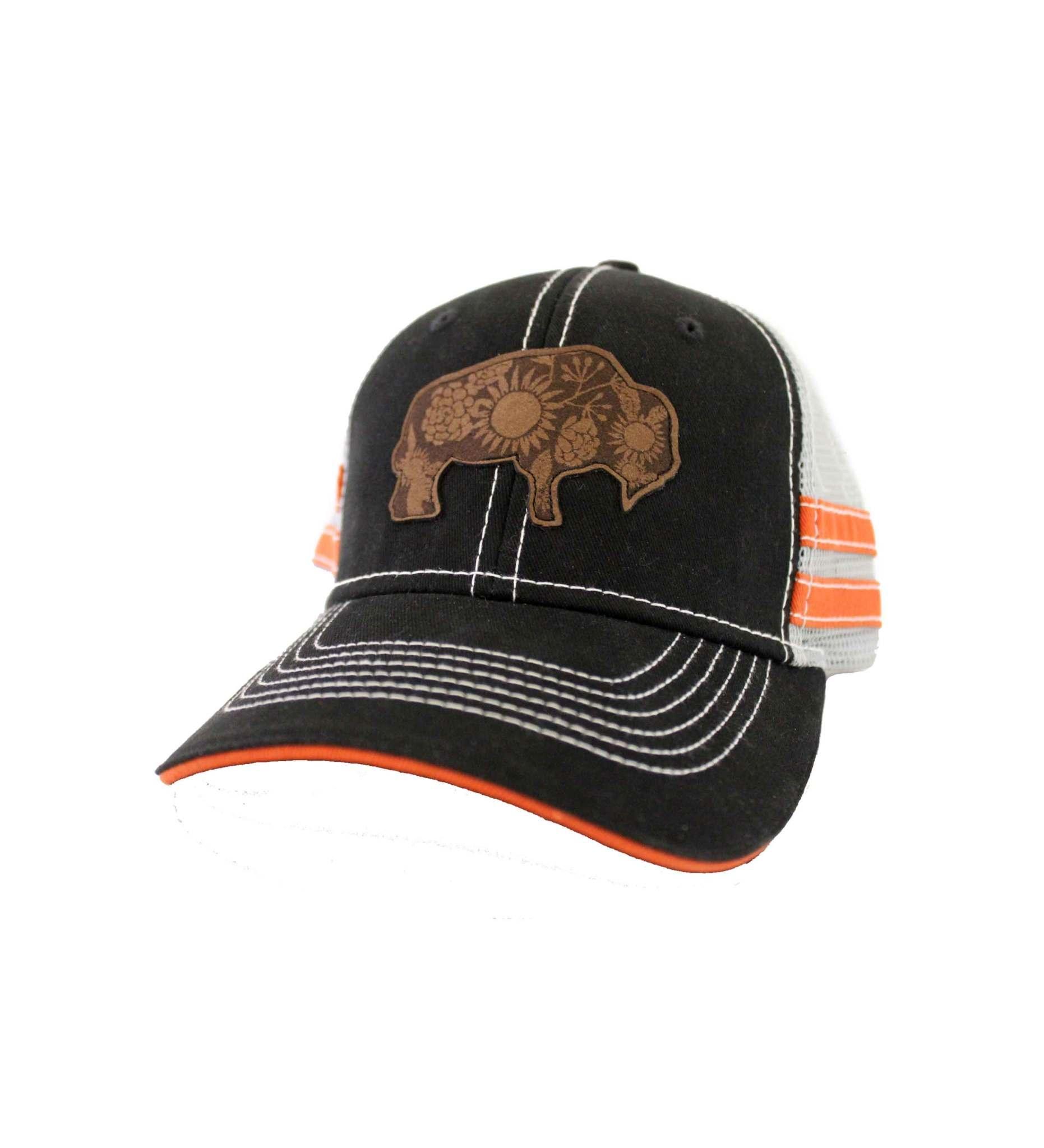 Black & Gray Buffalo Cap