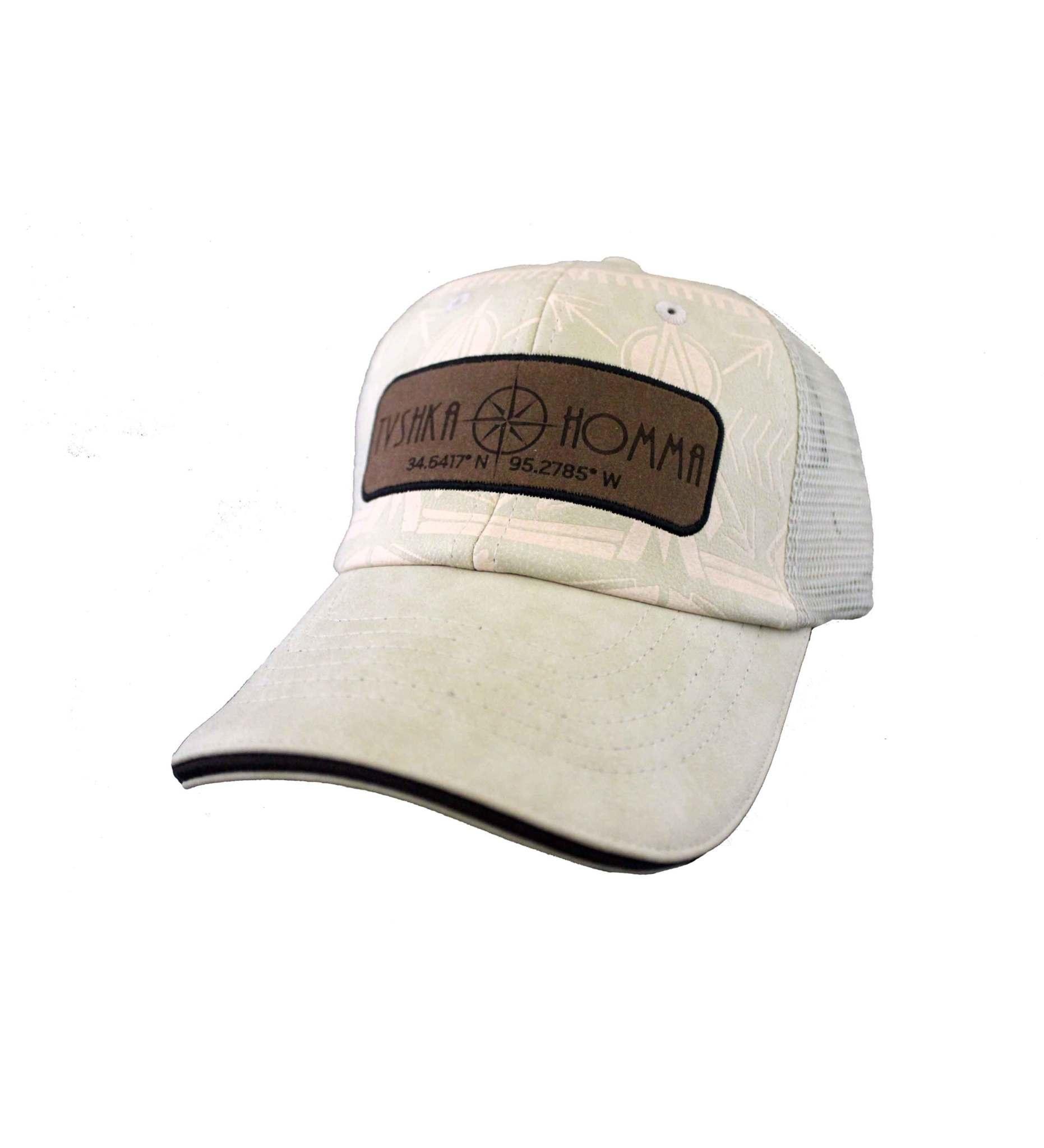 MX195 CAP - Etched Leather Mesh Back Khaki