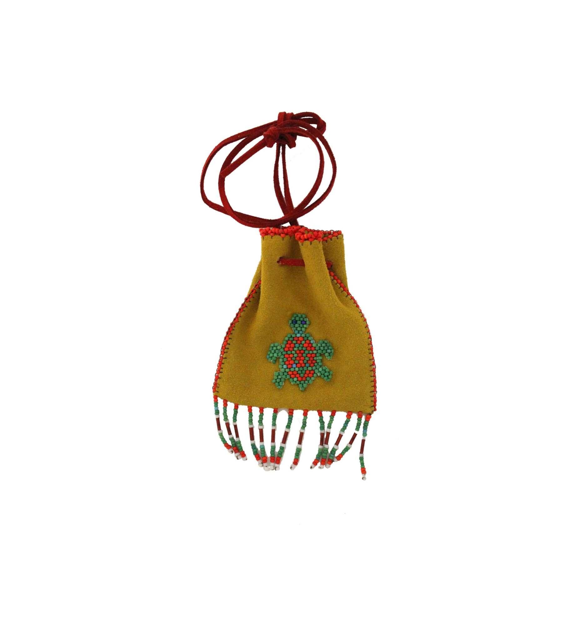 *AB Beaded Turtle Medicine Bag