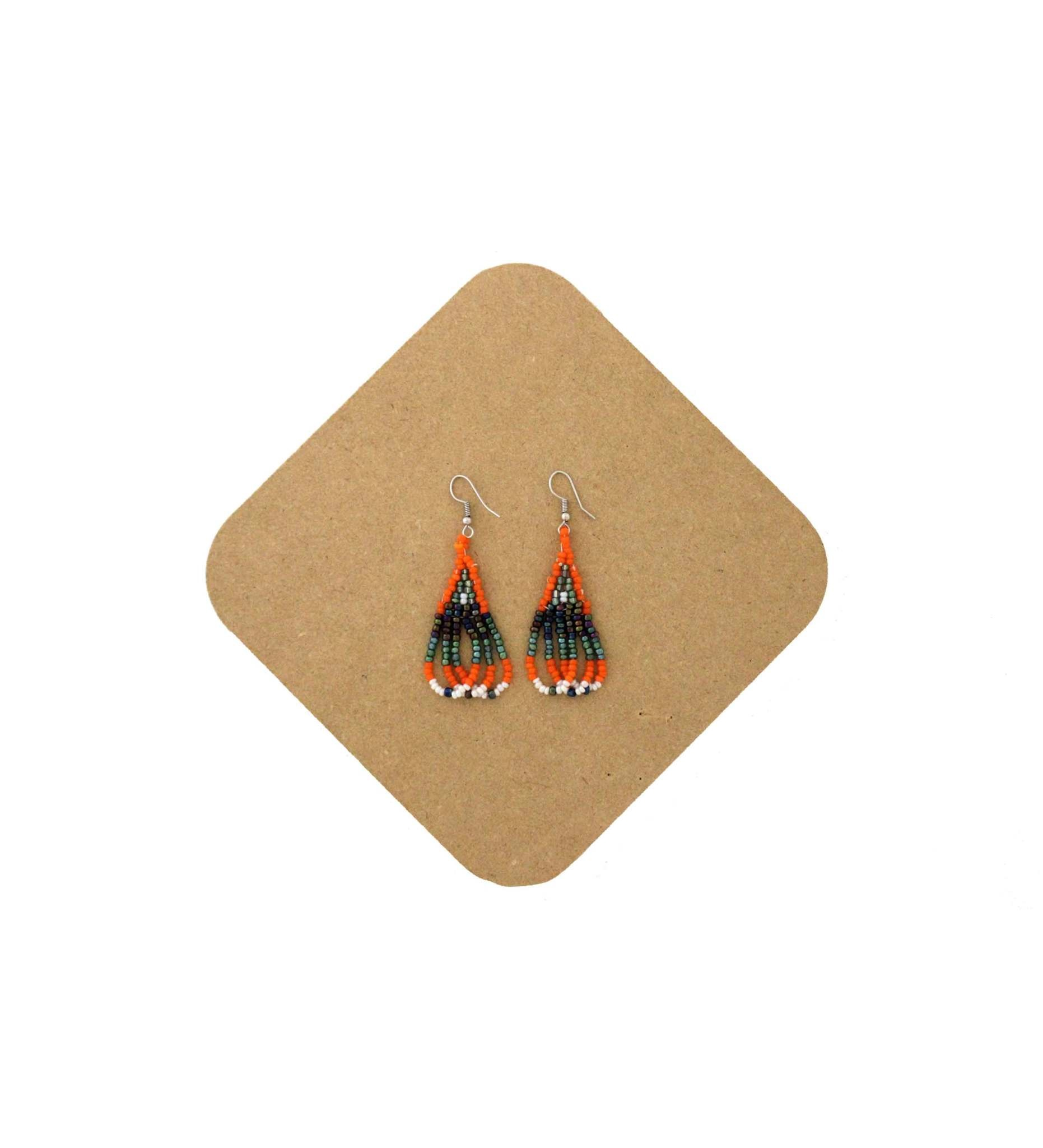 *AB Beaded Earring-3