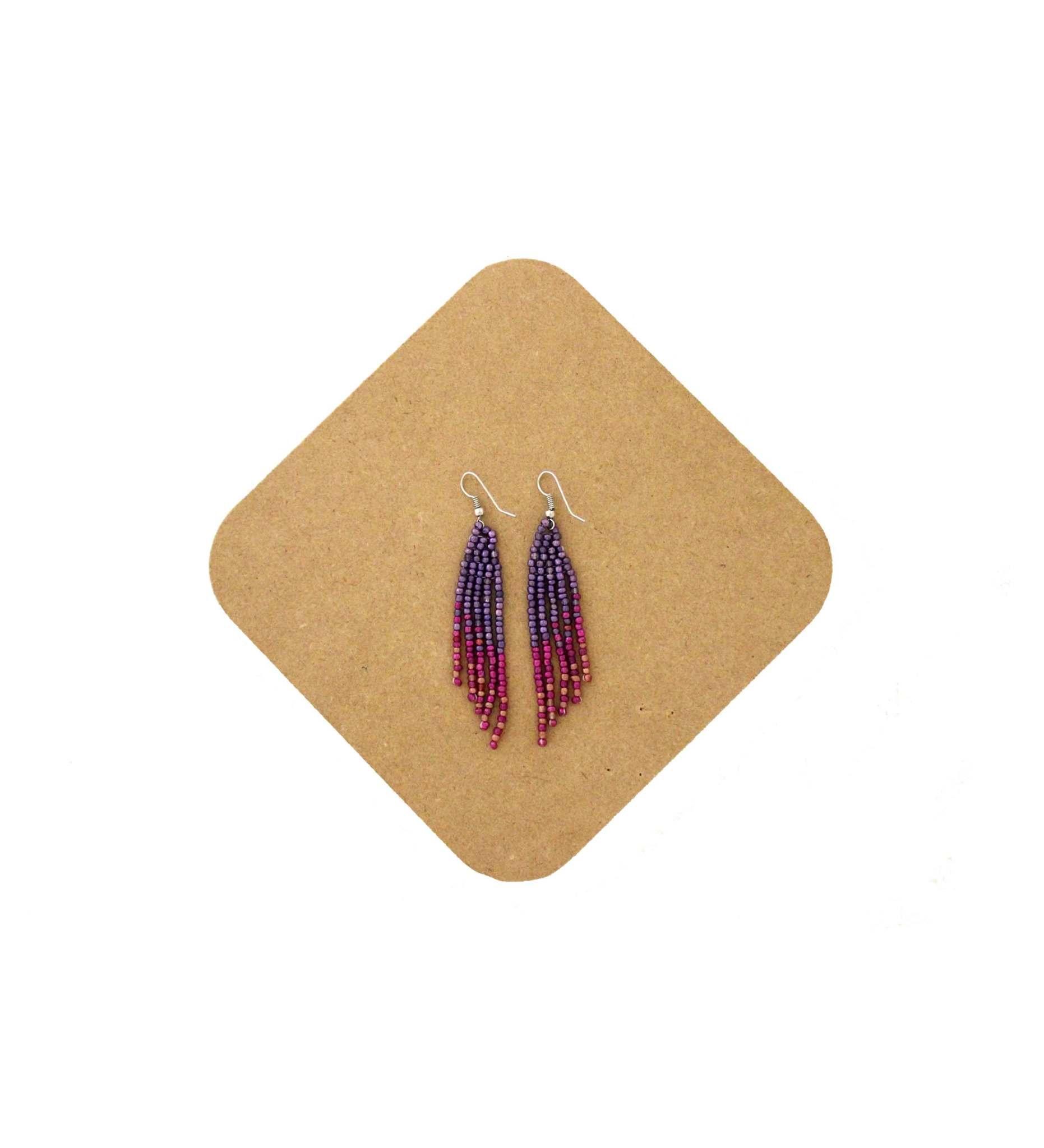 *AB Beaded Earring-1