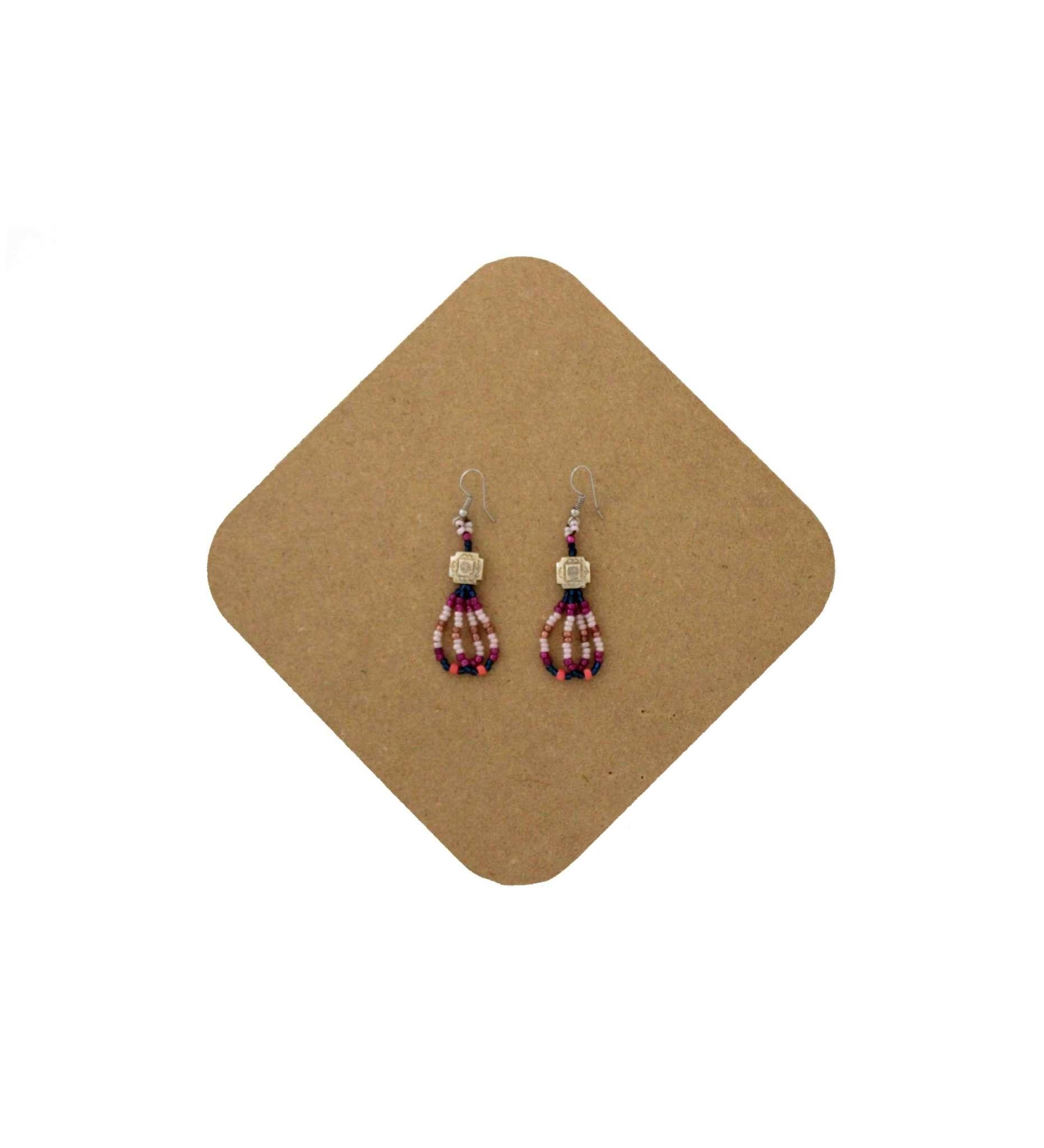 *AB Beaded Earring-4