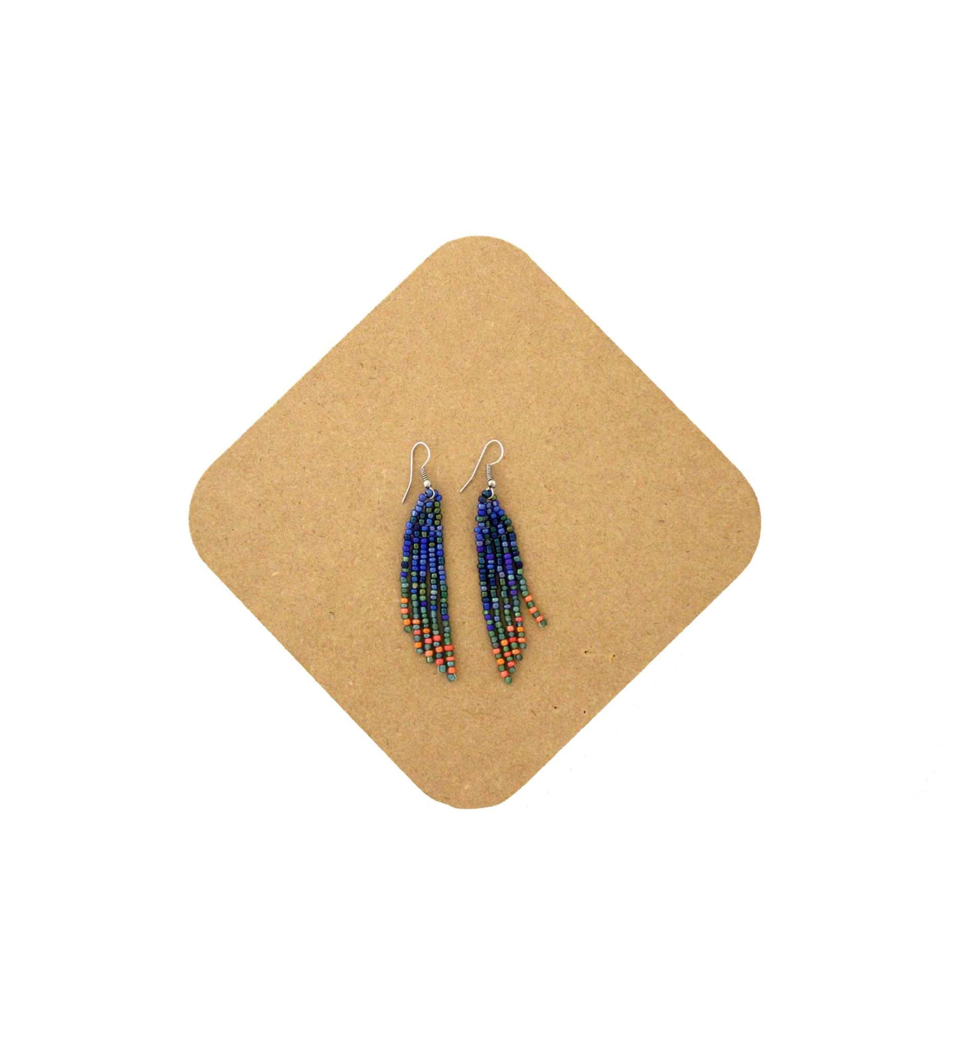 *AB Beaded Earring-5