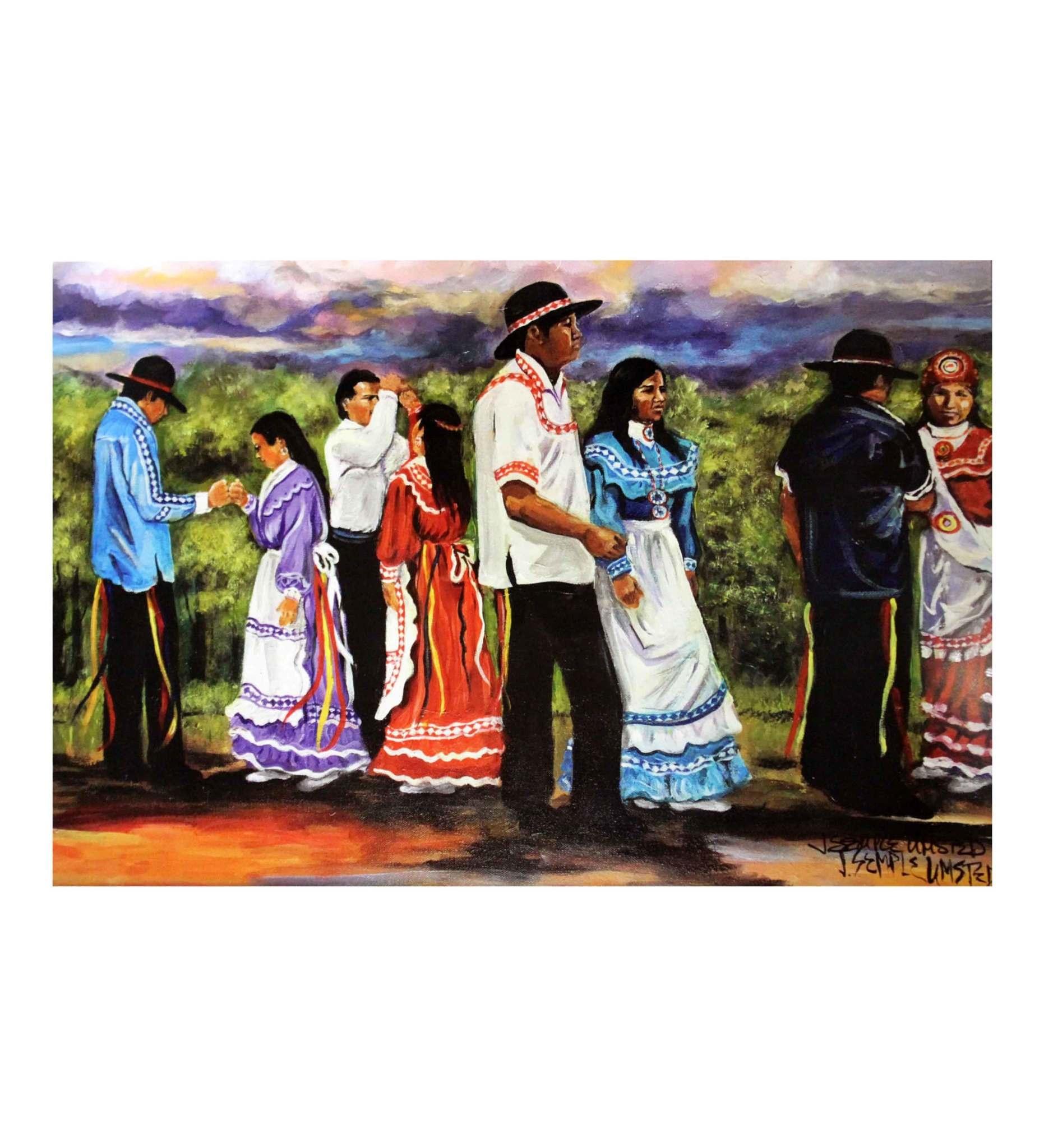 """*JU """"CHOCTAW WEDDING DANCE"""" Print"""