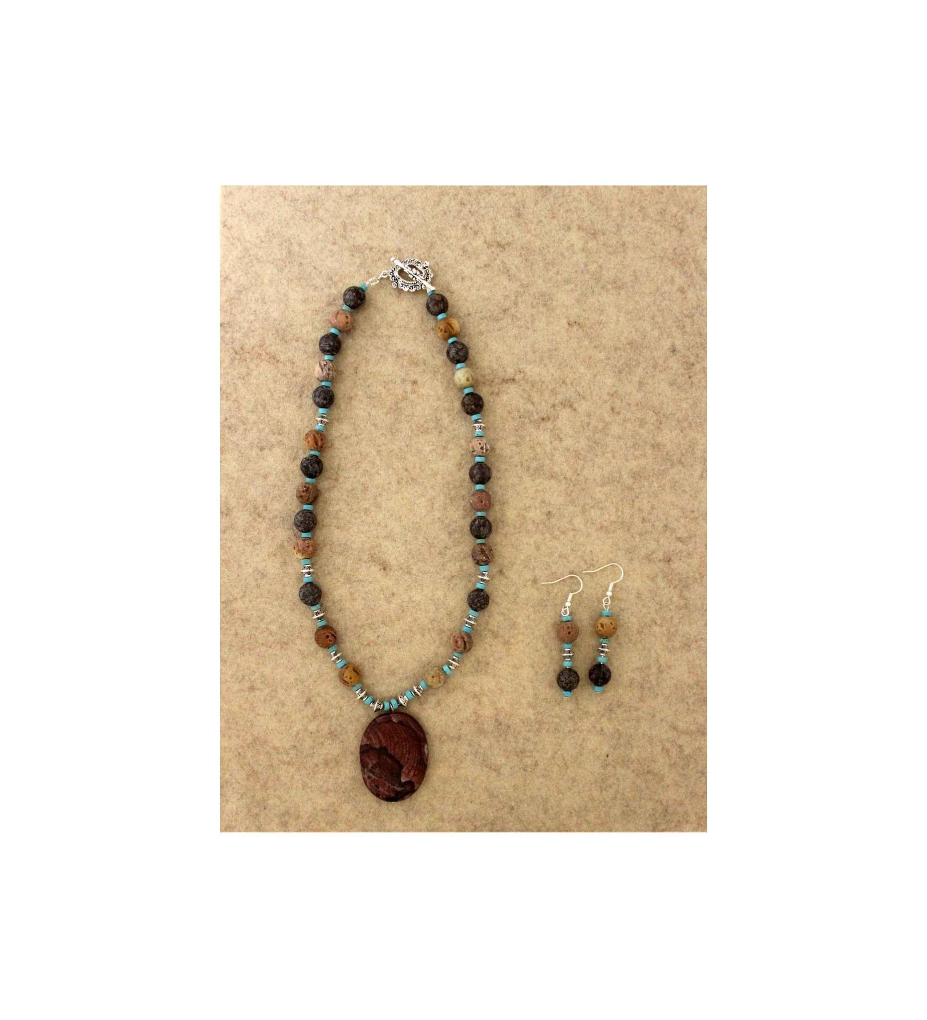 *JM 20191223205 Snowflake Obsidian & Wooden Beads & Jasper