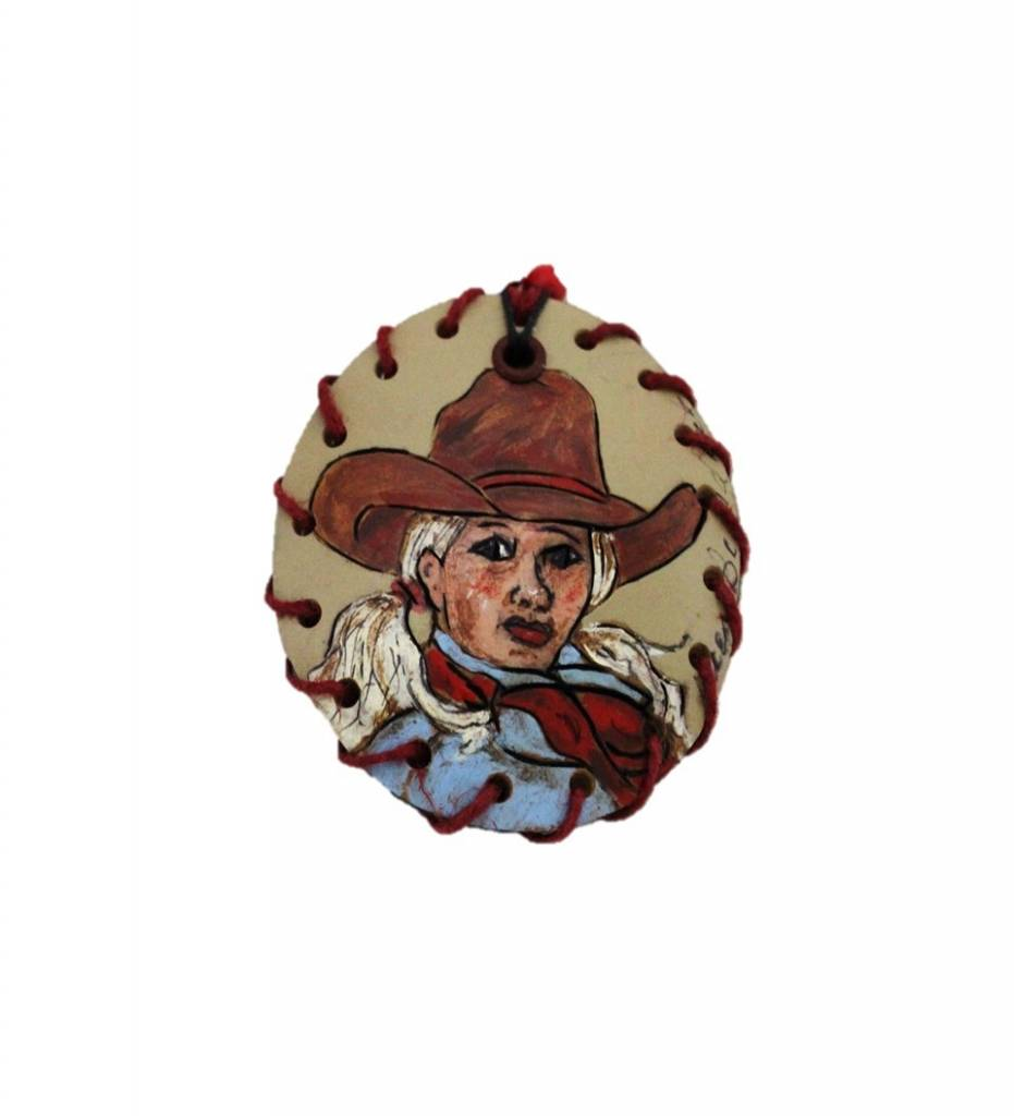 """*KB """"Cowgirl"""" Gourd Medallion & Beaded Necklace"""