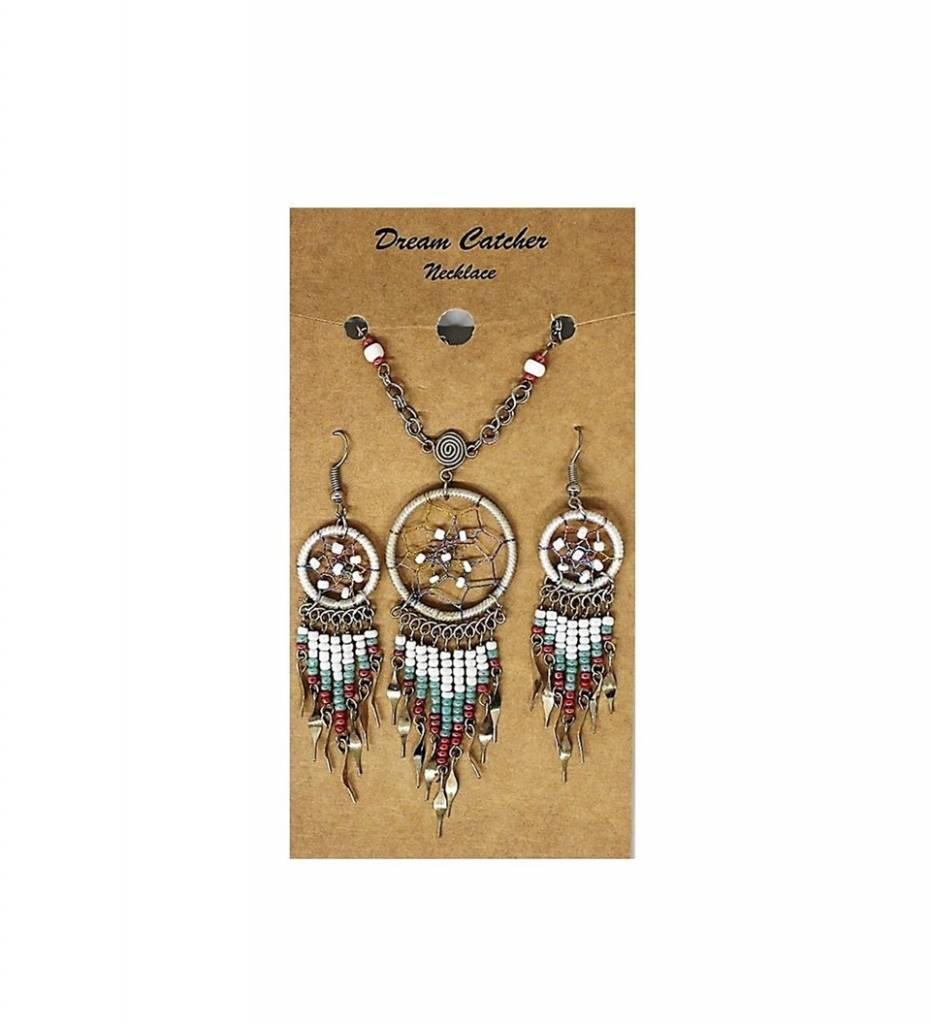 Dreamcatcher Necklace & Earrings Set