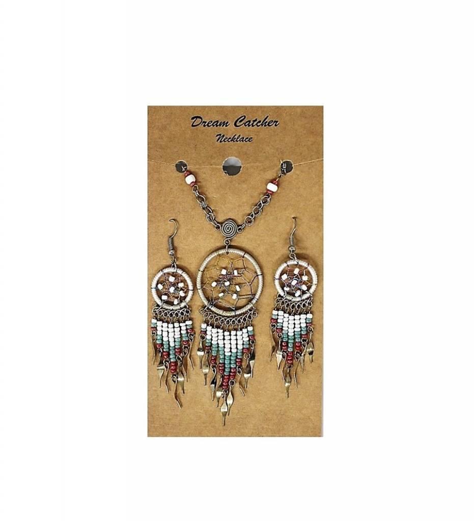 Dreamcatcher Necklace & Earrings Set