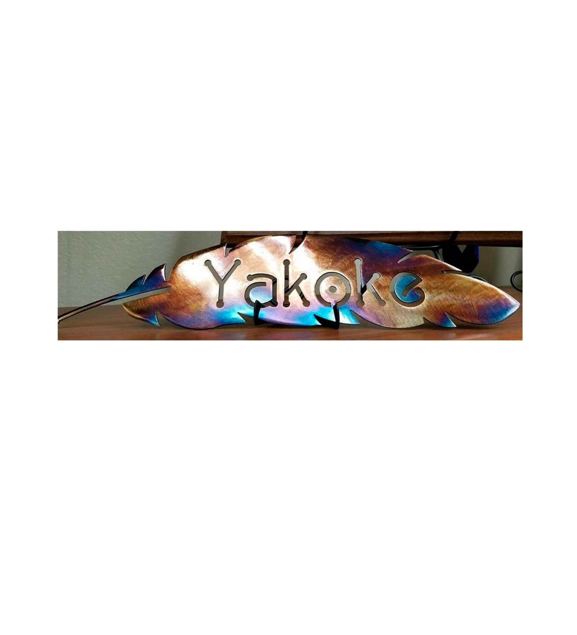 "*BMW ""Yakoke"" Feather Metal Artwork Small"