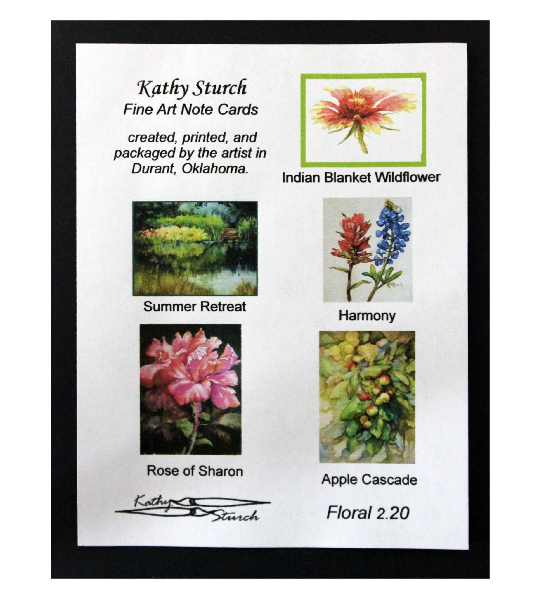 """*KS Assorted Note Cards Pack """"Wildflower"""""""
