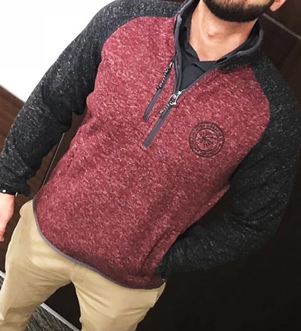 Half Zip Knit Pullover