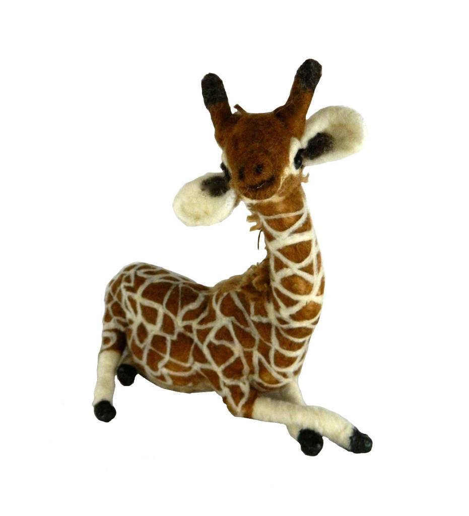 "*JC ""April"" Hand Felted Giraffe"