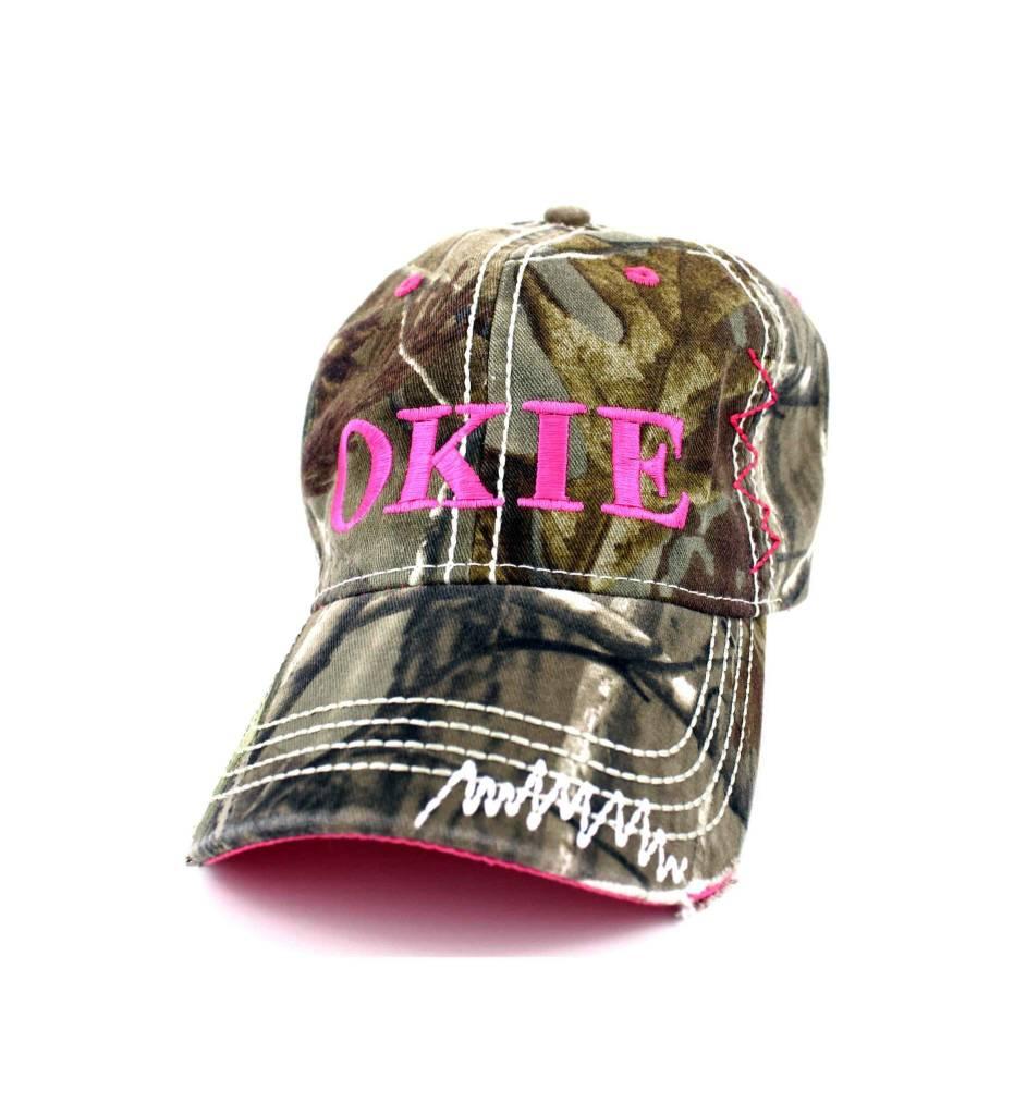 """OKIE"" Camo & Pink Cap"