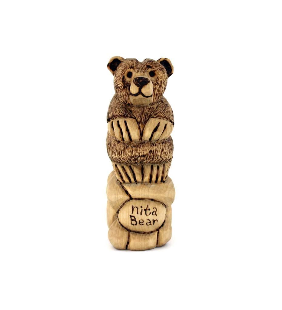 *JS Hand Carved Bear / Nita Bear
