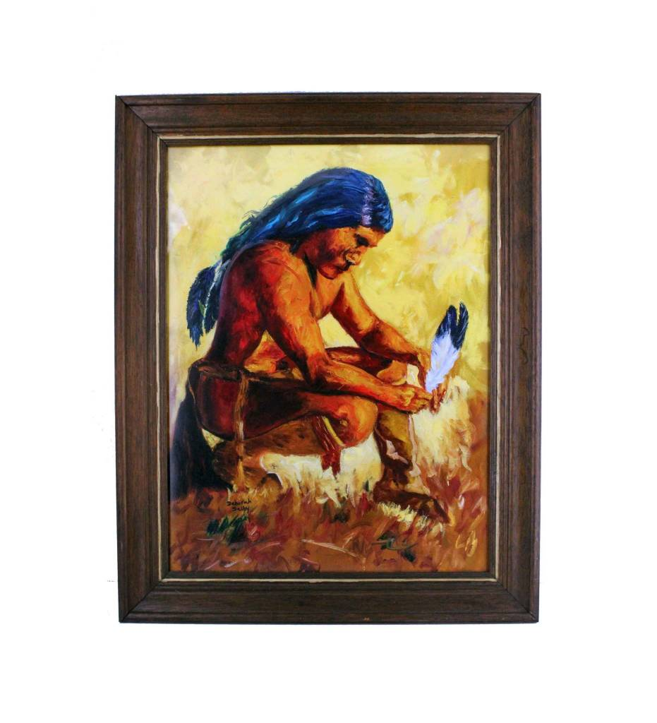 Ds 18 X 24 Battle Prayer Print In Wood Frame The Choctaw Store