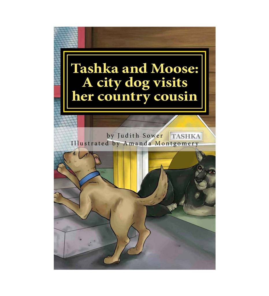 *JCS Tashka and Moose: A city dog visits her country cousin