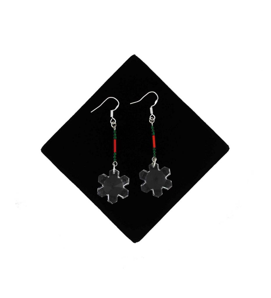 *BG Sterling Silver Crystal Earrings
