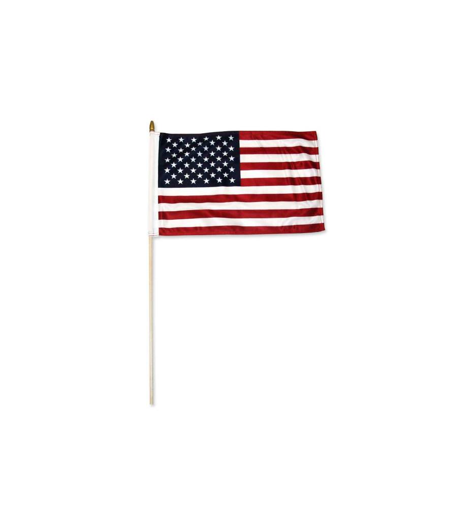 American Flag 12 in. X 18 in. On Stick