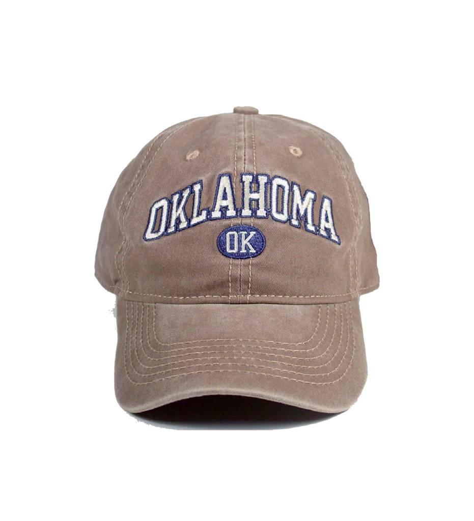 "OK Washed Khaki ""OKLAHOMA"" OK Cap"