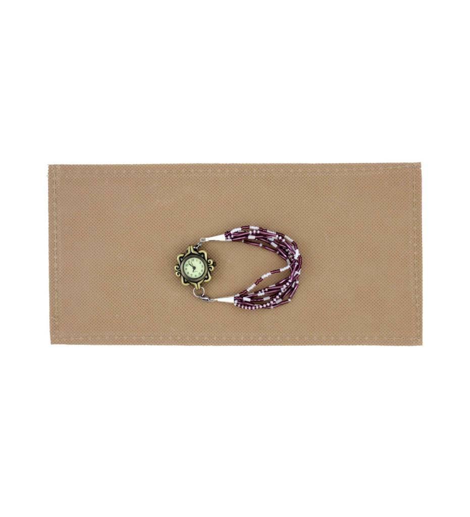 *BG Purple & White Beaded Watch