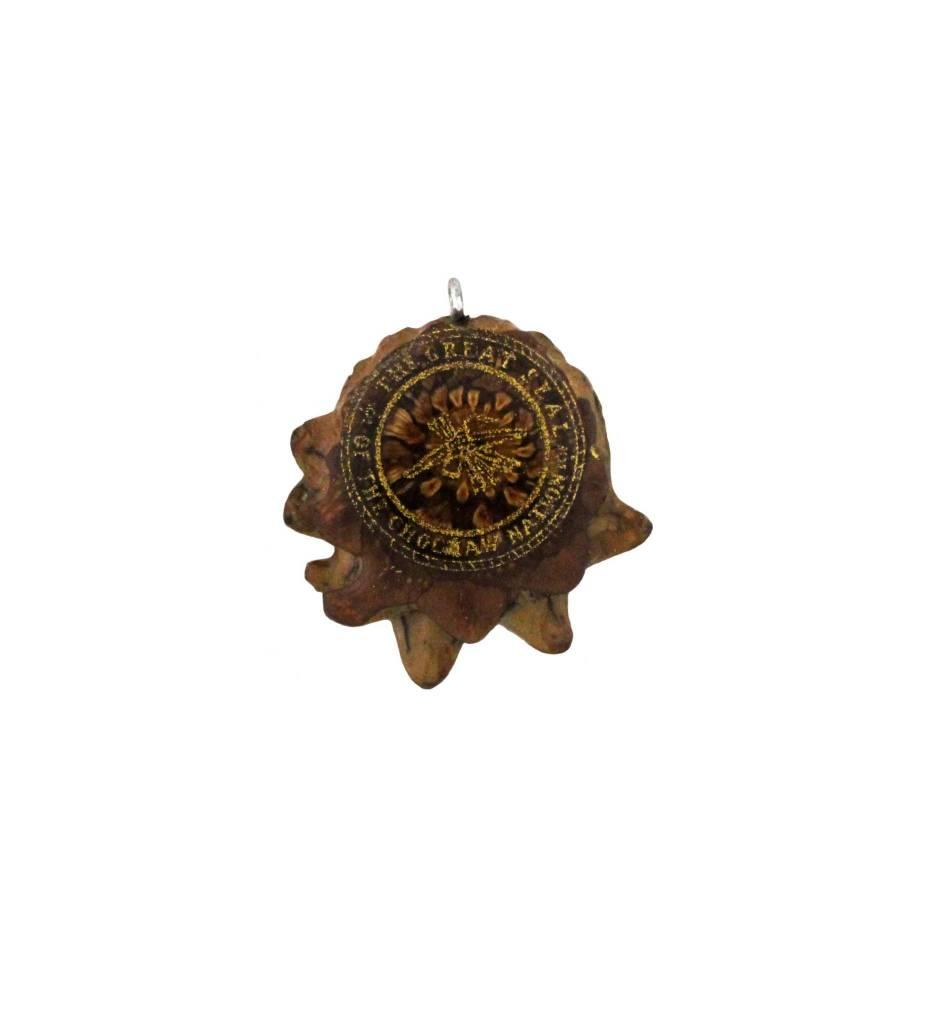 *ZM LG CNO Seal Pine Cone Pendant