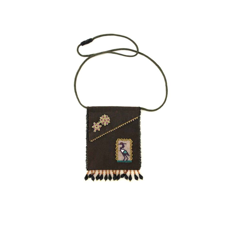 *AB Beaded Medicine / Phone Bag