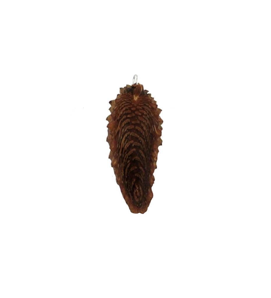 *ZM Medium Long Plain Pine Cone Pendant