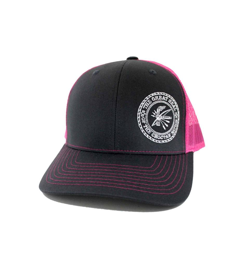"Choctaw ""SEAL"" Cap Charcoal & Pink"